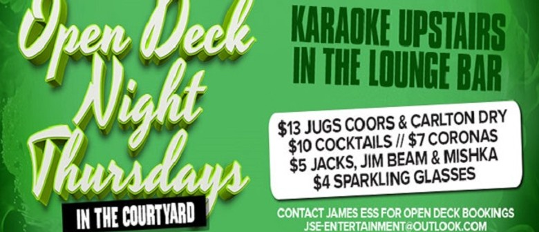 Open Deck Night Downstairs & Karaoke Upstairs - Perth