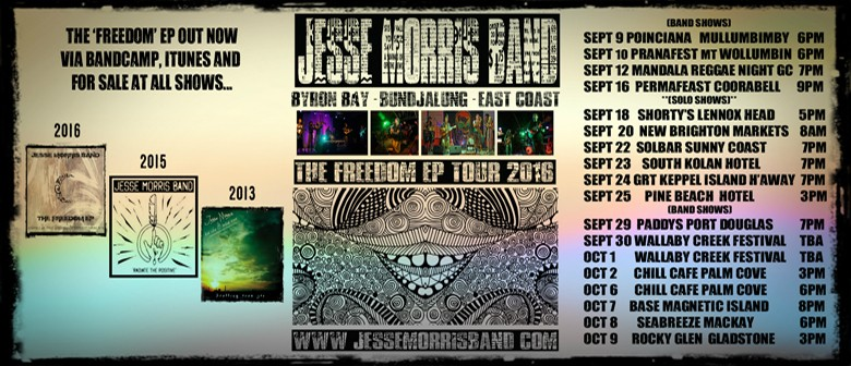 Jesse Morris Band - Solo - Freedom EP Tour
