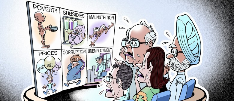 Political Cartoonist Mark Knight With Ajit Ninan