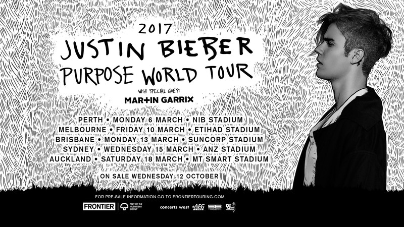 Justin bieber world tour dates in Perth