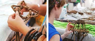Sculptural Random Weaving W/ Natural Fibres With Meri Peach