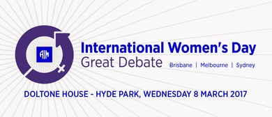 AIM International Women's Day Great Debate