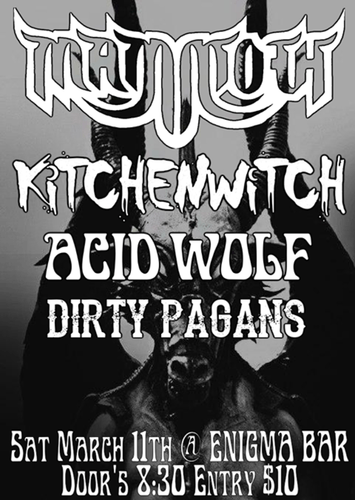 Mammoth With Kitchen Witch, Acid Wolf, Dirty Pagans