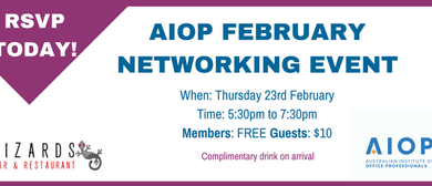 Darwin Office Professionals Networking Event