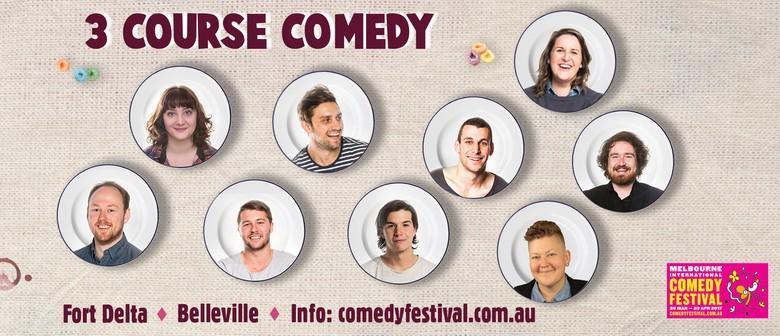 Melbourne International Comedy Festival – 3-Course Comedy