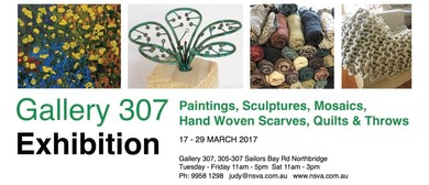 Paintings, Sculptures, Mosaics, Hand Woven Scarves, Quilts