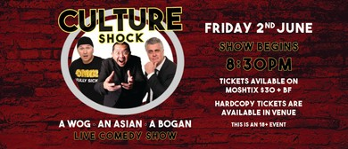 Culture Shock – A Wog, An Asian, A Bogan – Comedy Show