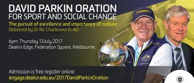 2017 David Parkin Oration