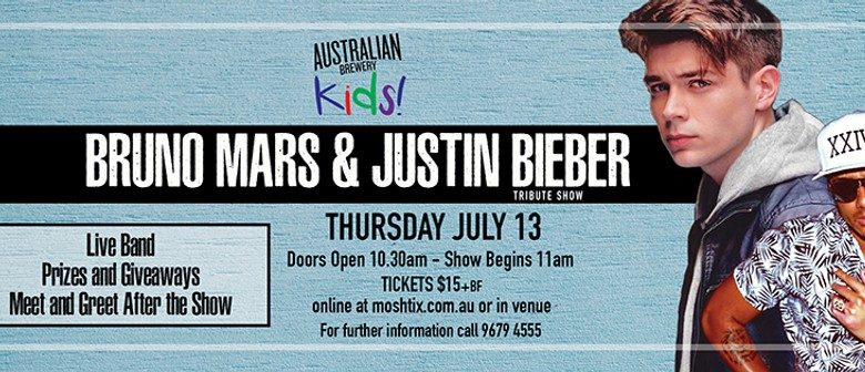 Bruno mars and justin bieber tribute show sydney eventfinda bruno mars and justin bieber tribute show m4hsunfo