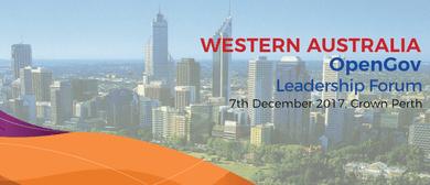 Western Australia OpenGov Leadership Forum 2017