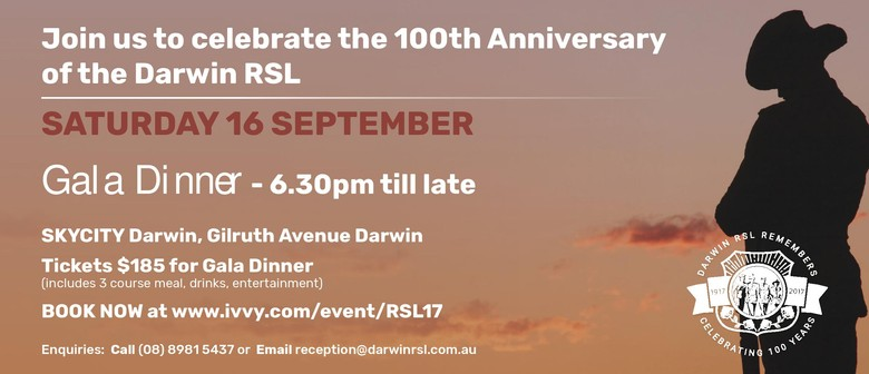 Darwin RSL 100th Anniversary Celebrations – Gala Dinner