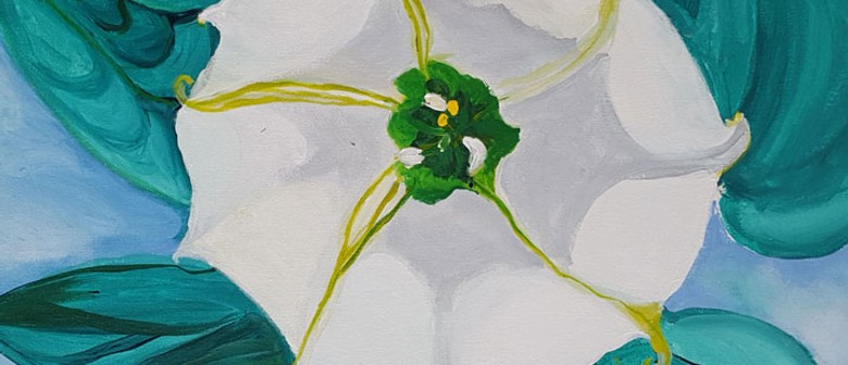 Bubbles & Brushes -Jimson Weed/White Flower No 1 - O'Keefe