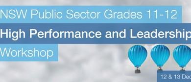 NSW Public Sector High Performance & Leadership Workshop