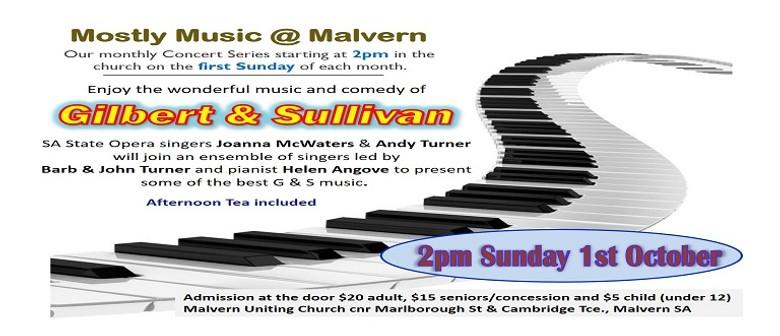 Mostly Music @ Malvern – An Afternoon W/ Gilbert & Sullivan