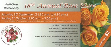 Gold Coast Rose Society Annual Rose Show