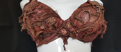 Steam Punk Art Bra with Powertex - Pink Ribbon Fundraiser: SOLD OUT