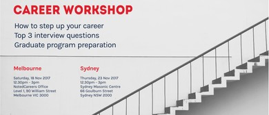 Career Workshop: Stepping Up Your Career