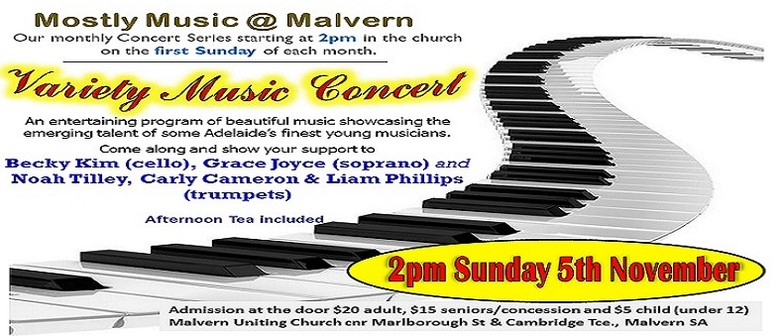 Mostly Music @ Malvern – Young Talent Variety Concert