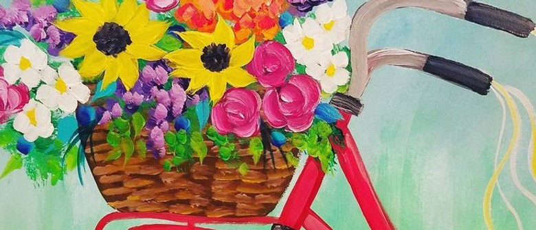 Learn to Paint – Blossoming Basket of Flowers