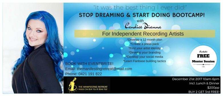 Stop Dreaming & Start Doing Bootcamp