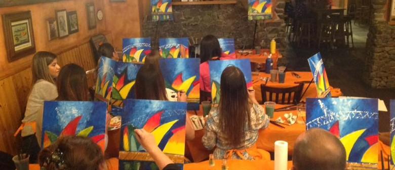 Beginners Painting Class – Splashing Waves