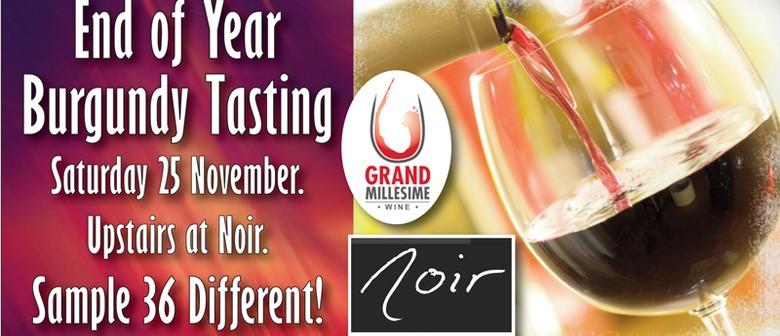 End of Year Burgundy Wine Tasting
