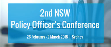 2nd NSW Policy Officer's Conference