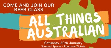 All Things Australian – Beergustation Class