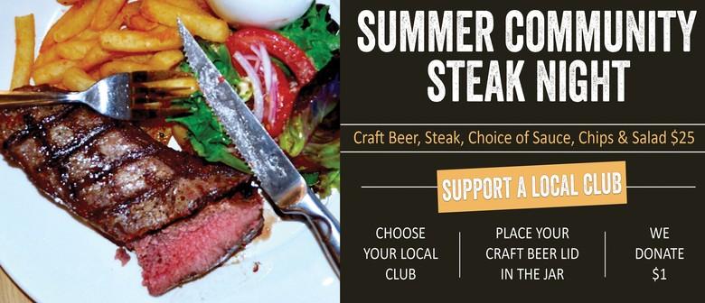 Summer Community Steak Night