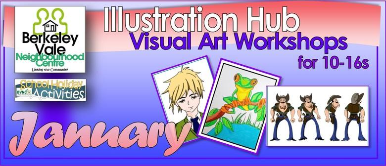 Illustration Hub Visual Art Workshops for 10–16s In Holidays