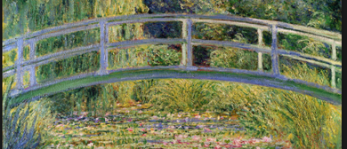 Bubbles and Brushes Paints Monet's Japanese Bridge