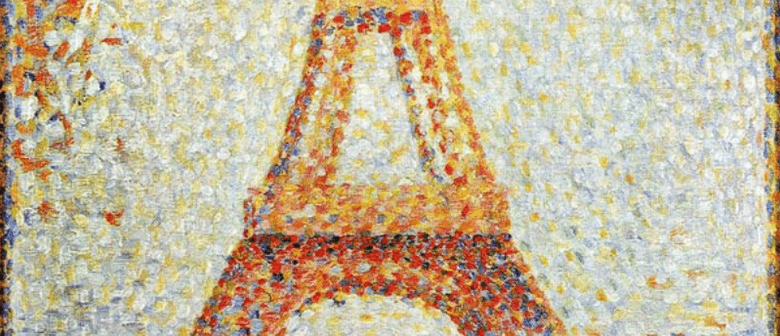 Bubbles and Brushes - Seurat's Eiffel Tower
