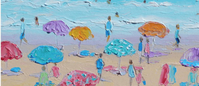 Bubbles and Brushes Paints At The Beach