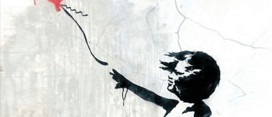 Bubbles and Brushes paints Banksy Girl with Red Balloon: CANCELLED