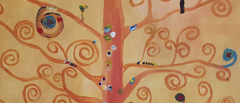 Bubbles and Brushes paints Tree of Life - Klimt