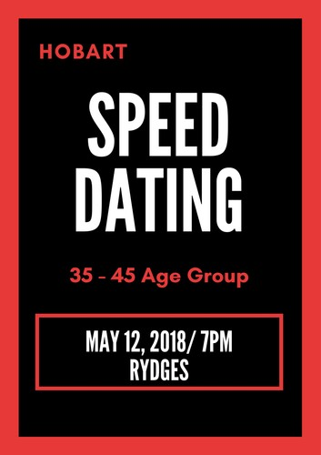 Speed dating hobart