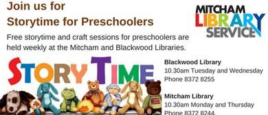 Storytime for Preschoolers