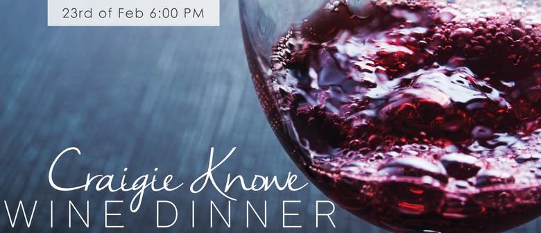 Craigie Knowe Wine Dinner