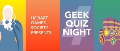 Hobart Games Society: Geek Quiz 4
