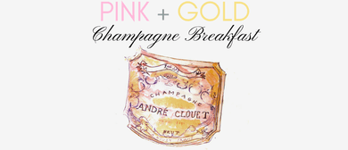 Pink + Gold Champagne Breakfast