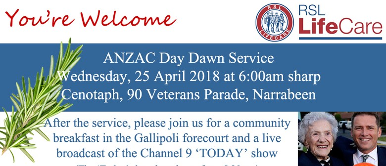 ANZAC Day Dawn Service and Community Breakfast