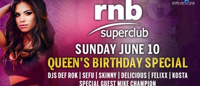RnB Superclub – Queen's Birthday Long Weekend Special