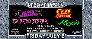 Rock Monsters Sabbath Ozzy Twisted Sister Poison Tribute