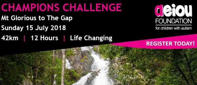 Champions Challenge – For AEIOU Foundation