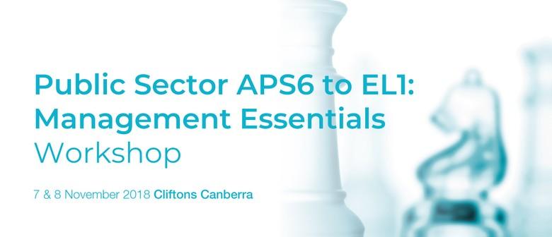 Public Sector APS6 to EL1: Management Essentials Workshop