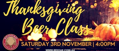November Beer Class – Thanksgiving