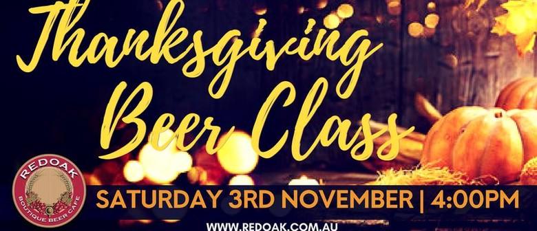 November Beer Class – Thanksgiving