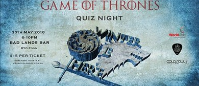 Game of Thrones Quiz Night: CANCELLED