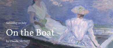 Saturday Social Painting: On the Boat by Claude Monet