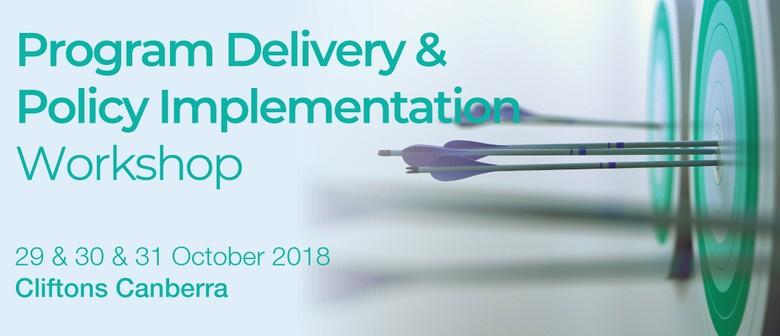 Policy Implementation & Program Delivery Workshop